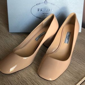 Authentic Prada Vernice Cipria WTags & Box Sz 36